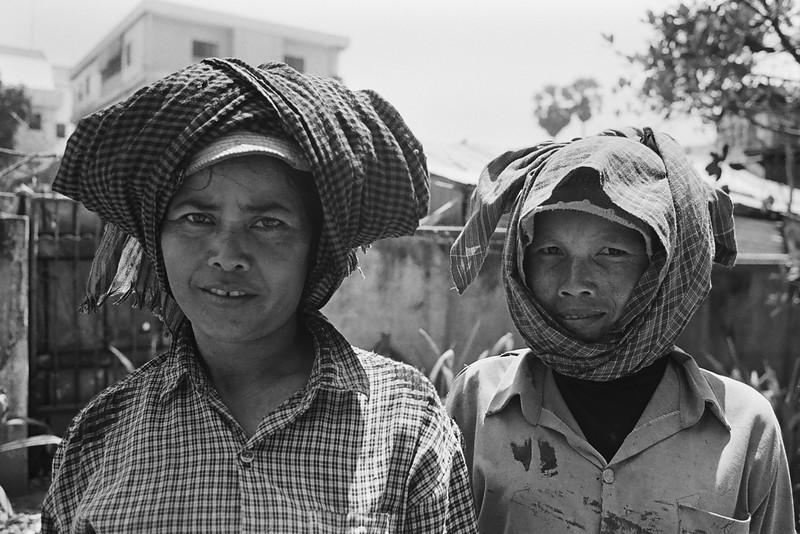 Women working construction, Siem Reap, Cambodia 2007
