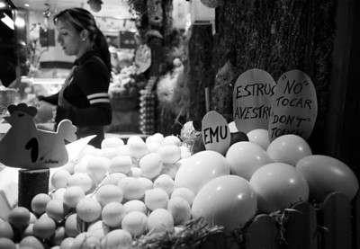 Market Eggs, Barcelona, Spain
