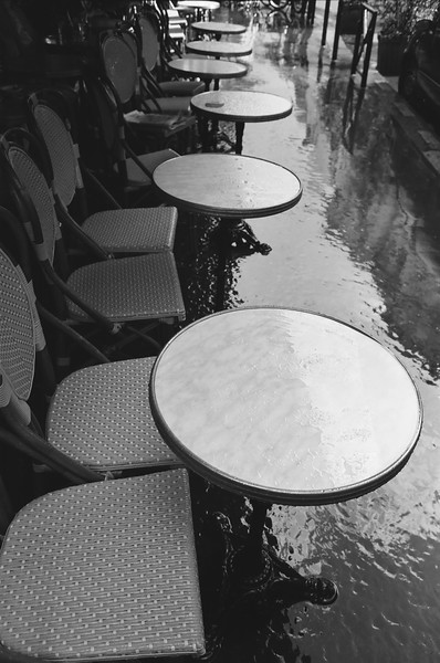 Cafe tables, Paris France 2001