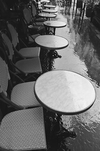 Cafe Tables, Paris France