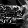 saxophone hands bw 8x12 A