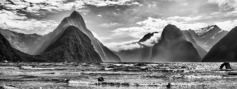 Milford Sound in Monochrome