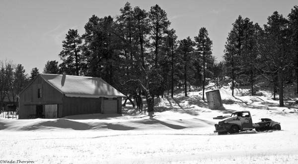 Old barn & Truck