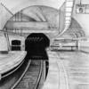 """Track 6"" (graphite) by Cheryl Godin"