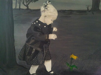 """Abigail"" (acrylic) by Kathleen Carrier"
