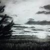 """Bliss Sunset"" (charcoal) by Luke Engle"