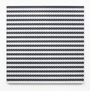 """""""Frecuencia BN 6"""" (acrylic on plexi) by Corina Hoher"""