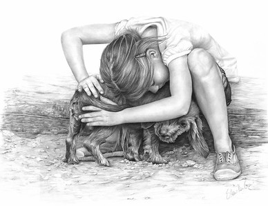 """The Hug"" (pencil on paper) by Sheona Hamilton-Grant"