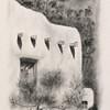 """""""Santa Fe Adobe"""" (oil on paper) by Carmen Badeau"""