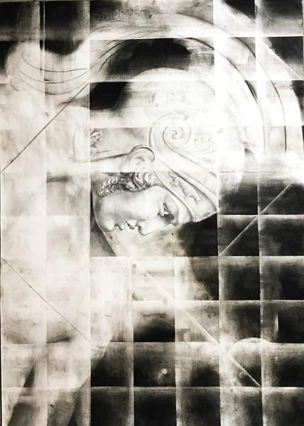 """Achilles"" (charcoal) by Victoria Murzinskaya"