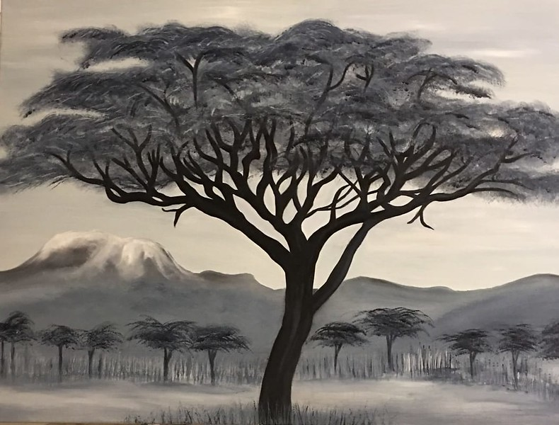 """Serengeti"" (oil) by Vivian Antonini"