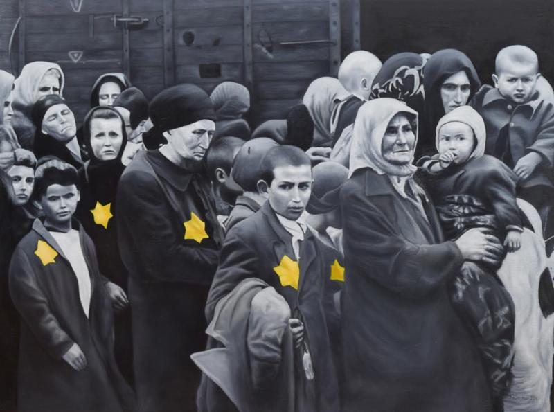 """""""Never Again"""" (oil on linen) by Eugene Kuperman"""