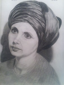 """Nina"" (pencil on paper) by Irina Abramova"
