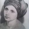 """""""Nina"""" (pencil on paper) by Irina Abramova"""