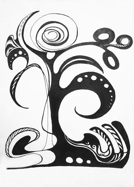 """Tree of life""(ink) by Veronika Abramova"
