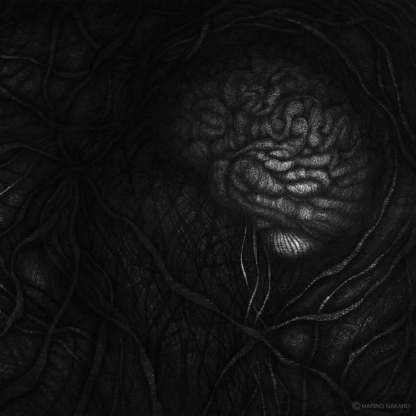 """Unborn"" (pen on paper) by Marino Nakano"