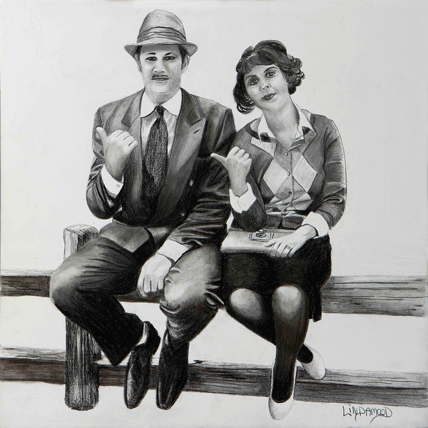 """""""Thumbin'"""" (graphite on cradled board) by Patsy Lindamood"""