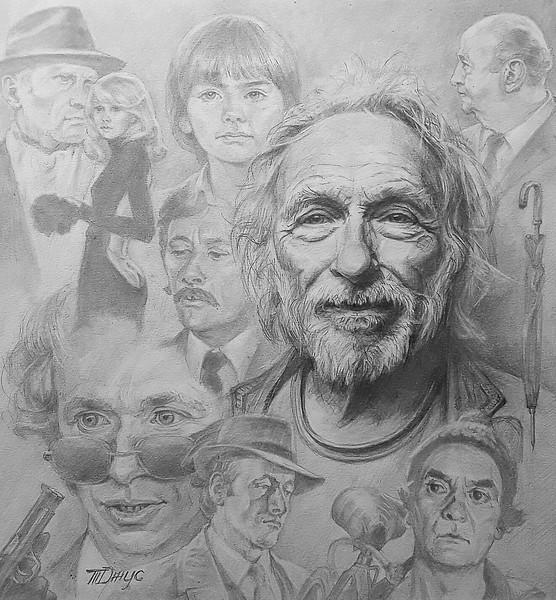 """Pierre Richard"" (pencil on paper) by Tatiana Dzhus"