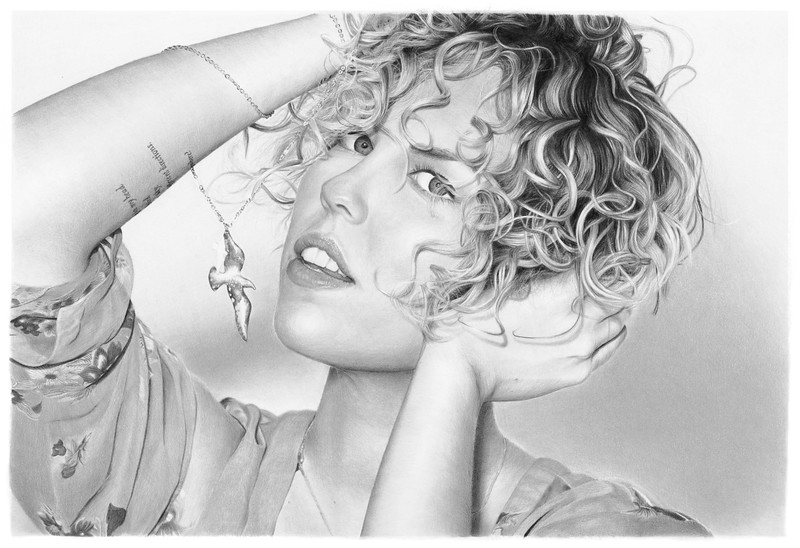 """Jocelyn"" (graphite on paper) by Jim Little"