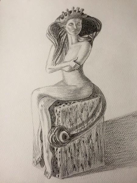 """Zodiac Leo"" (Graphite, pencil, watercolor) by Olga Fedorovskaya"