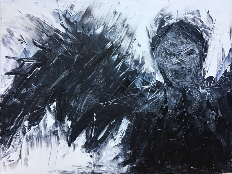 """Demon Rising"" (oil on canvas) by Katya Kitanova"