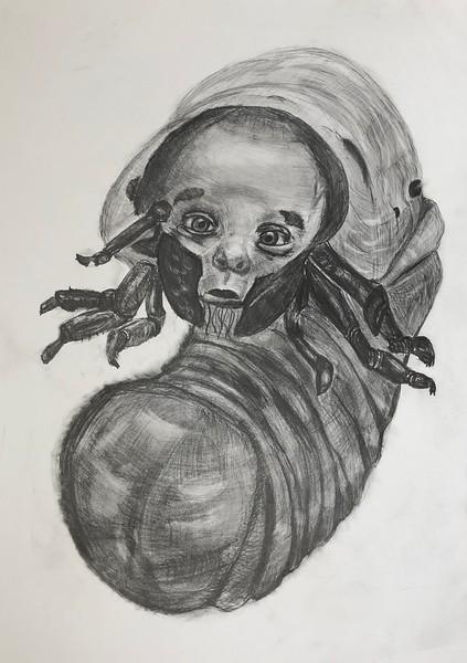 """""""Biopunk 1"""" (pencil on paper) by Nikita Chugunov"""