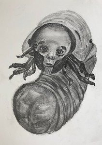 """Biopunk 1"" (pencil on paper) by Nikita Chugunov"