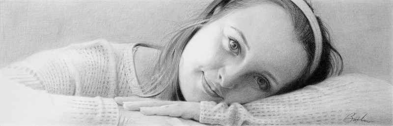 """Emma"" (colored pencil on paper) by Todd Baxter"