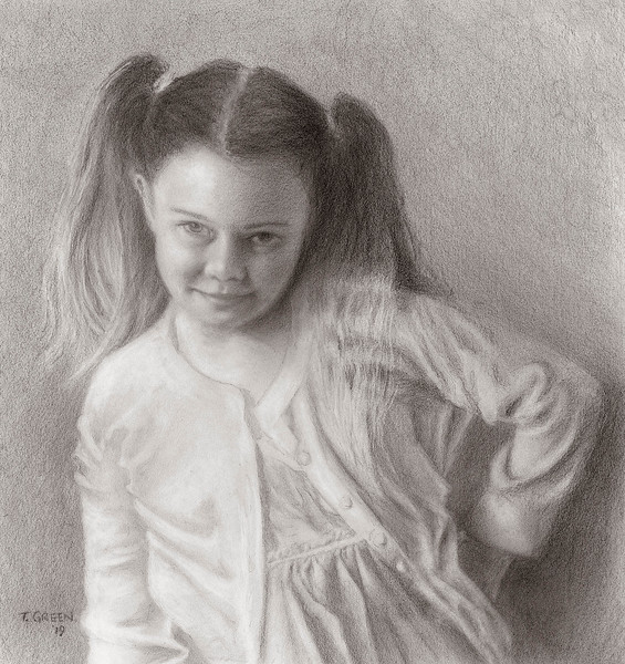 """Attitude"" (graphite) by Terry Green"