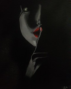 """Silence in the dark"" (oil on canvas) by Adriana Calichio"