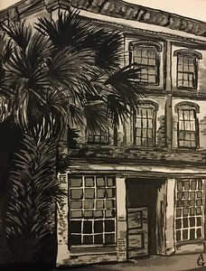 """Old Time Florida"" (india ink) by Ali Graves"