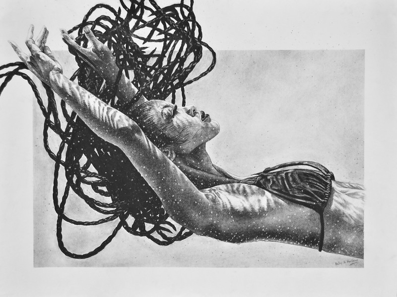 """Seven Seas"" (charcoal) by Hailey Henrikson"