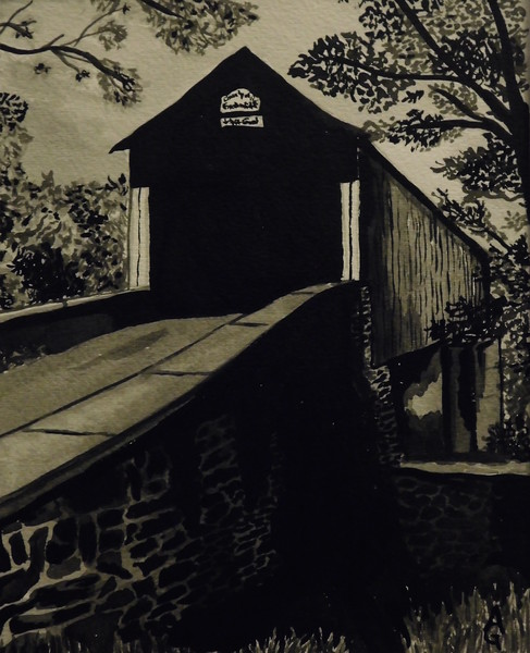 """""""Back In Time"""" (india ink) by Ali Graves"""