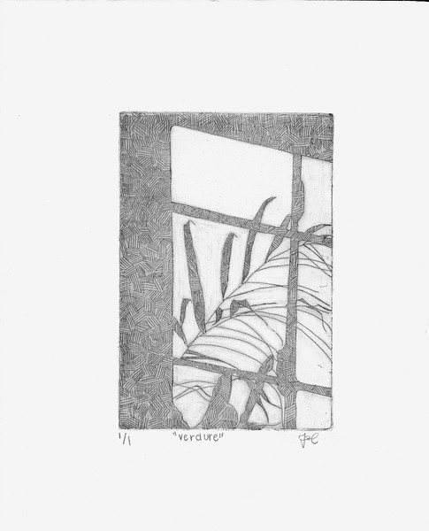 """Verdure"" (intaglio print) by Tori Cherry"
