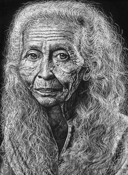 """Magwa"" (charcoal) by Hailey Henrikson"