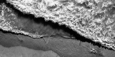 Pierport Aerial Black and White