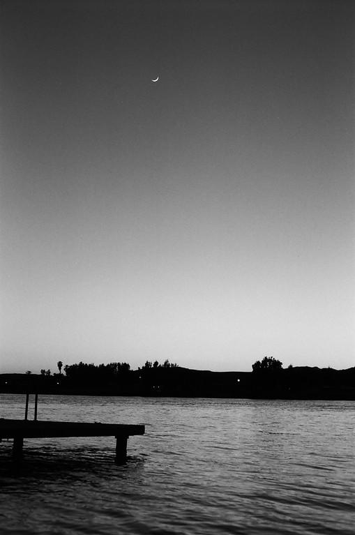 Crescent Moon from the Buckskin Sheriff's dock
