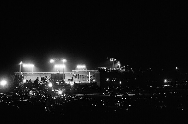 Dodgers Stadium after the game