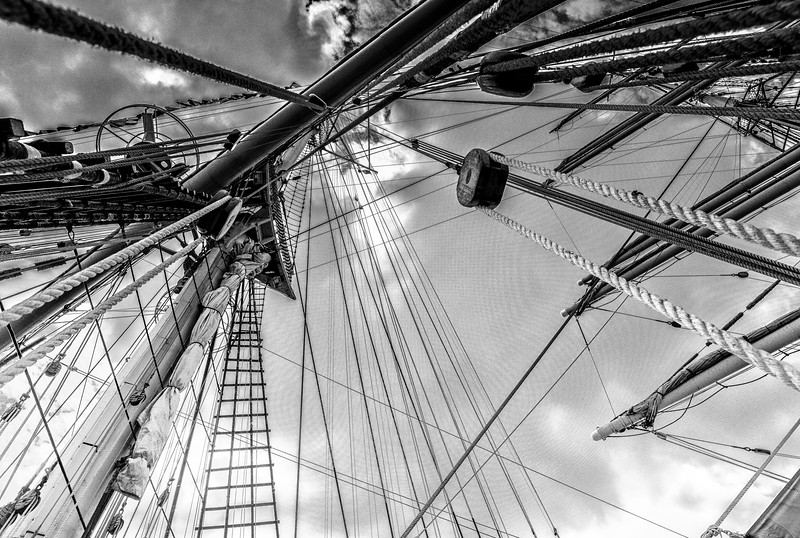 Tall Ship rigging at Bordeaux