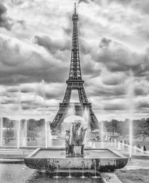 The Eiffel Tower from the Palais de Chaillot