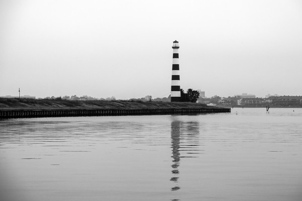 South Shore Harbour Lighthouse B&W