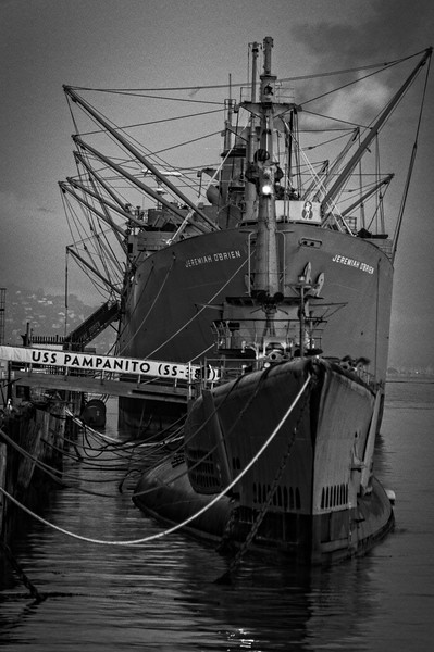 Navy Ships; Fisherman's Wharf - San Francisco