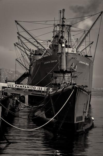 Navy Ships; Fisherman's Wharf - San Francisco