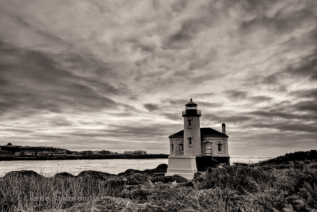 9-27-12 Coquille Lighthouse.  This is a 5 shot HDR processed in photomatix and silver effex pro 2.<br /> <br /> Critiques Welcome.