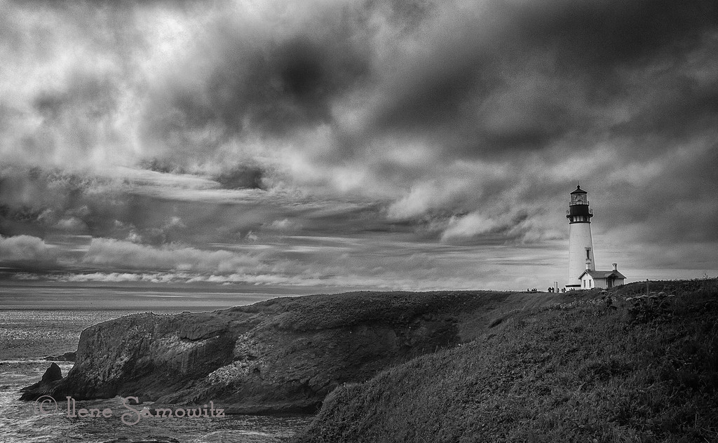 5-28-13 Yaquina Lighthouse.  I tried to really work the scene with the stormy light