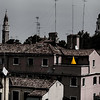 Yellow Umbrella; Venice Rooftops