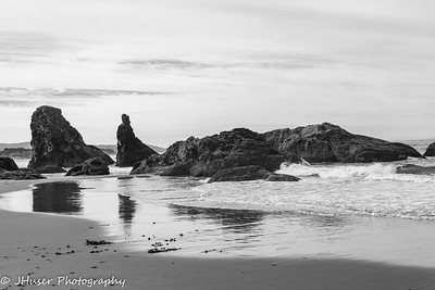Sea stacks on Bandon beach in Oregon