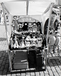 """Sally"" The Doll Vendor- Helsinki Finland 1986"
