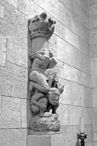 Carved Pillar: Cloisters, NYC