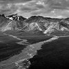 Denali Polychrome River Delta Y in Monochrome